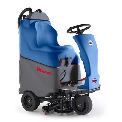 Fregadora automática con ruedas y asiento