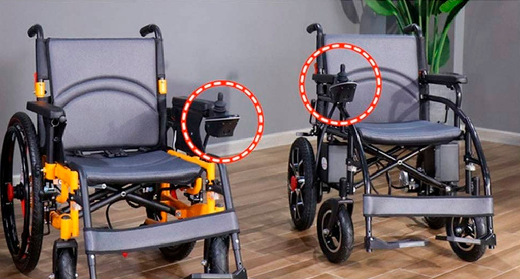 posición mando control silla de ruedas